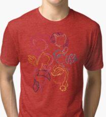 Main 6 Group Outline Tri-blend T-Shirt