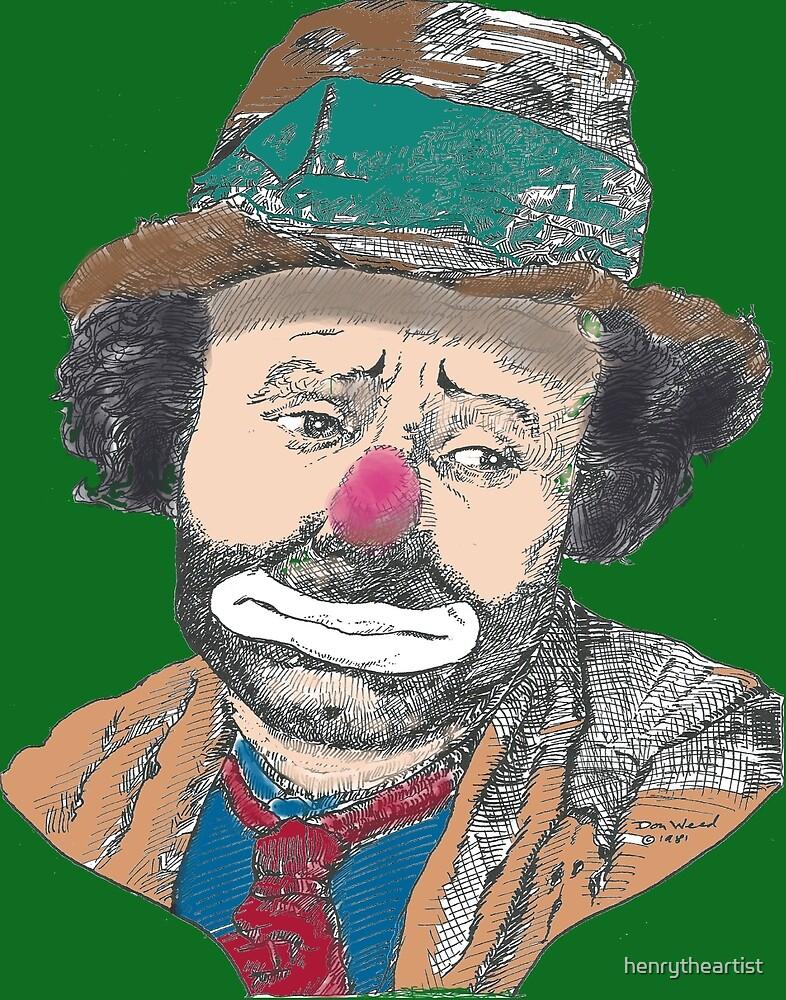 Sad Clown Emmet Kelly by henrytheartist