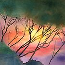 Sunset Through The Trees by arline wagner