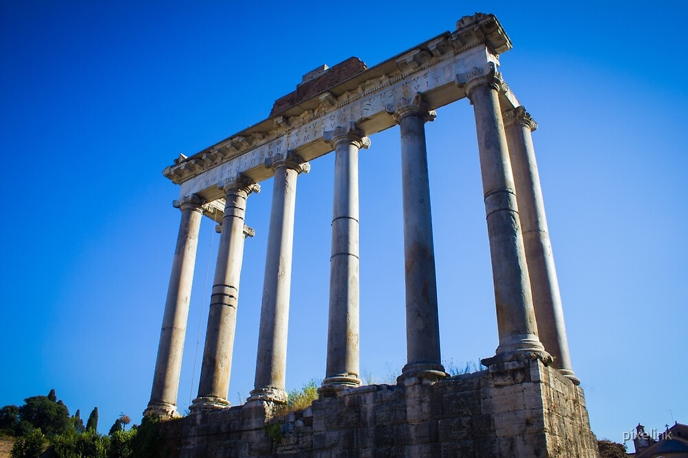 Temple of Saturn, Rome by pixelink
