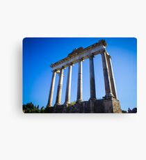 Temple of Saturn, Rome Canvas Print