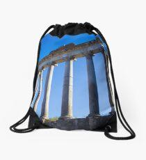 Temple of Saturn, Rome Drawstring Bag