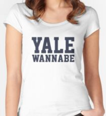 Yale Wannabe! Women's Fitted Scoop T-Shirt