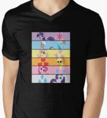 6 Mane MED Men's V-Neck T-Shirt