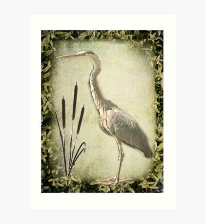 Le Heron Kunstdruck