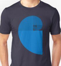 Golden Ratio Spiral - Blue Sections T-Shirt