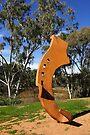 Shod sculpture at Deniliquin by Darren Stones