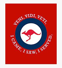 Royal Australian Air Force VVV Roundel  Photographic Print