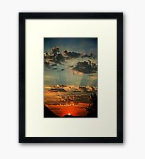 Epic Sunset Framed Print