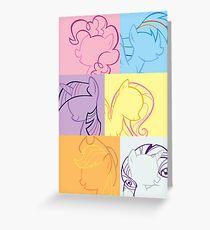 6 Main_squares 3 poster/card/print Greeting Card