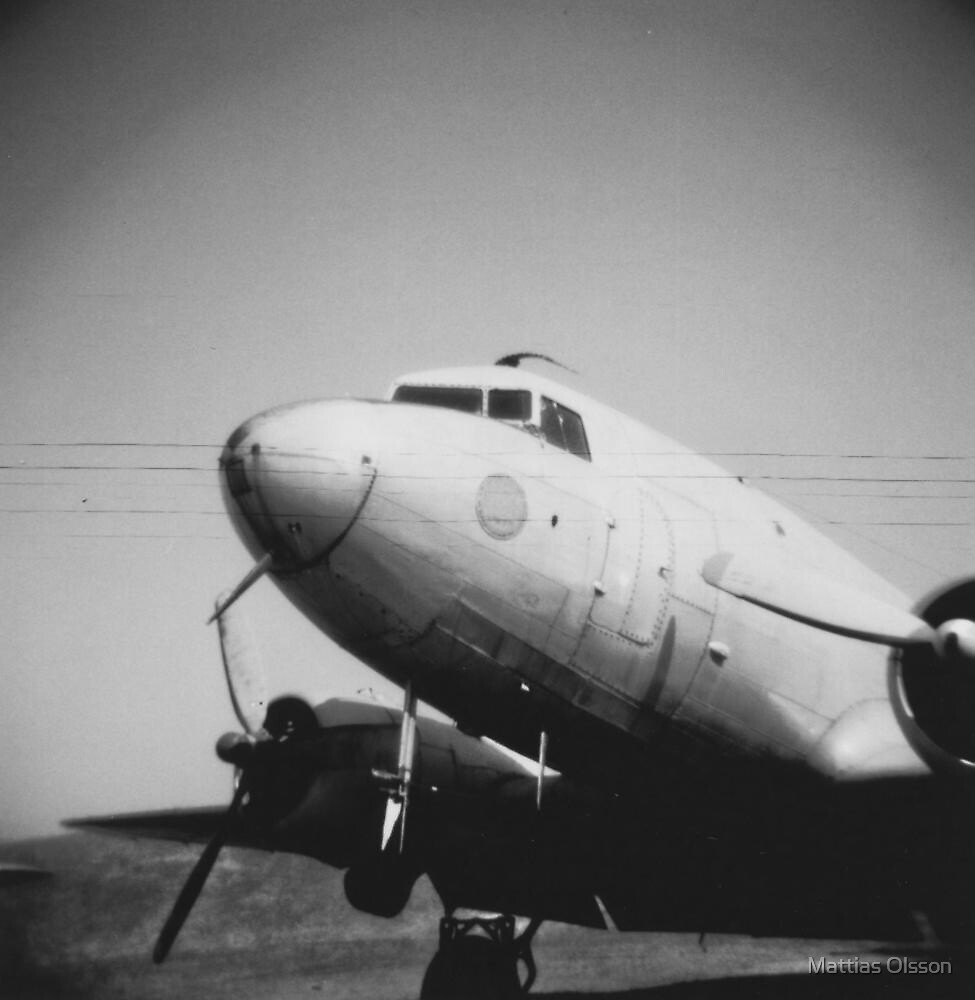 DC-3 at Linköping aircraft museum by Mattias Olsson