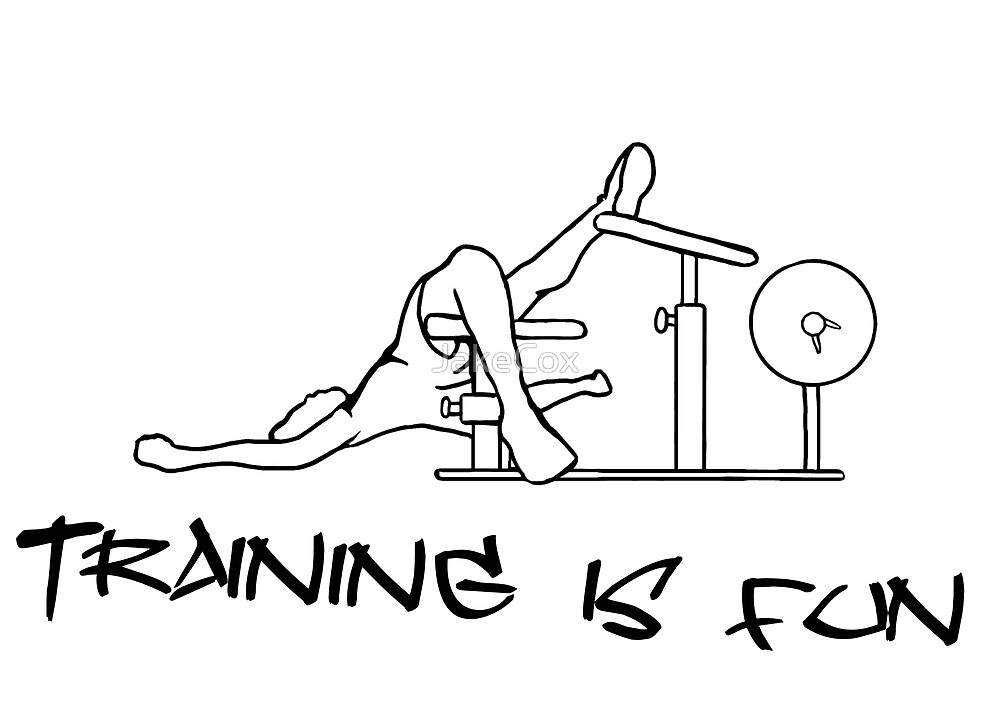 Training is fun (inverted) by JakeCox