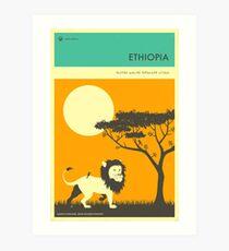 VISIT ETHIOPIA Art Print