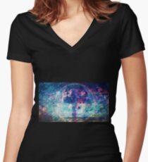 welcome oblivion Fitted V-Neck T-Shirt