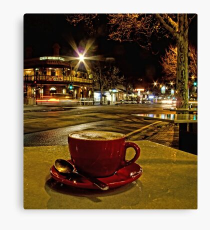 Latte on O'Connell Canvas Print