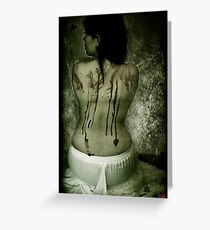 I am what you made me Greeting Card
