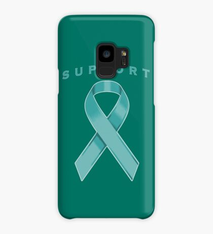 Teal Awareness Ribbon of Support Case/Skin for Samsung Galaxy
