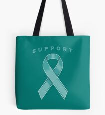 Teal Awareness Ribbon of Support Tote Bag