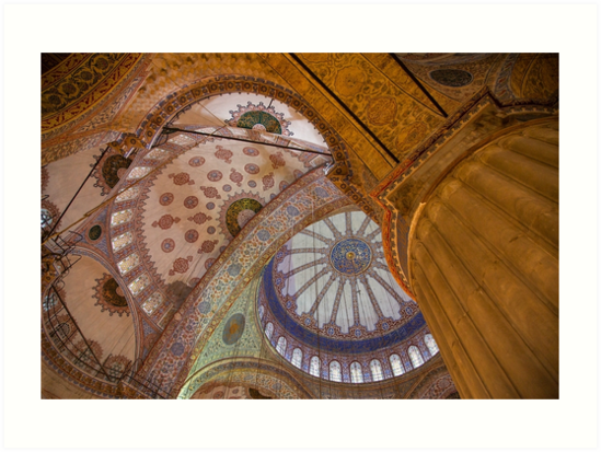 Blue Mosque, Istanbul by Shirley Radabaugh