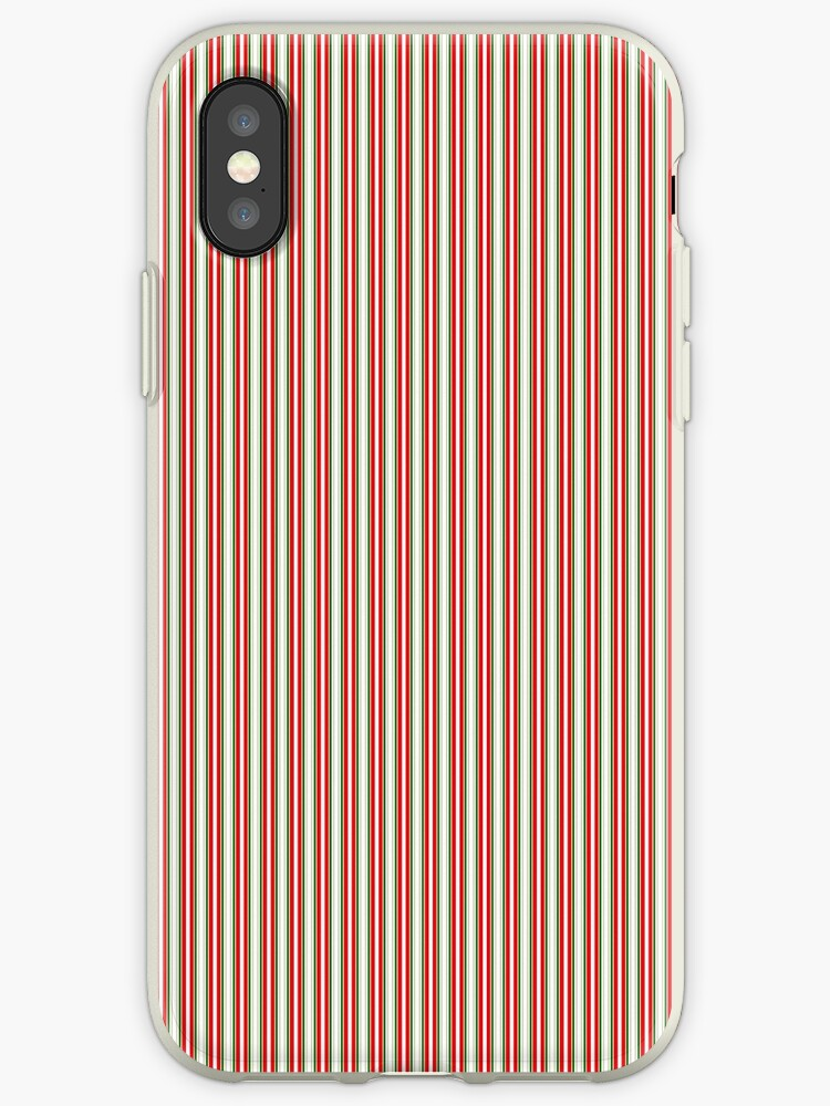 Red Green & Silver Christmas Pinstripes by podartist