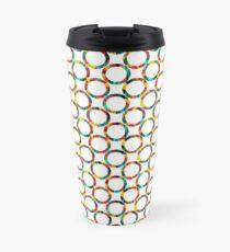 Decorative circles,multicolored Travel Mug