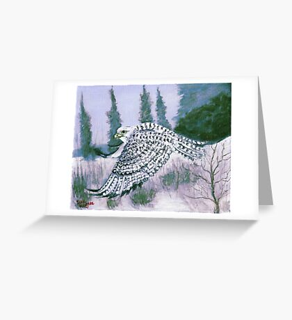 Alaskan Hawk Greeting Card