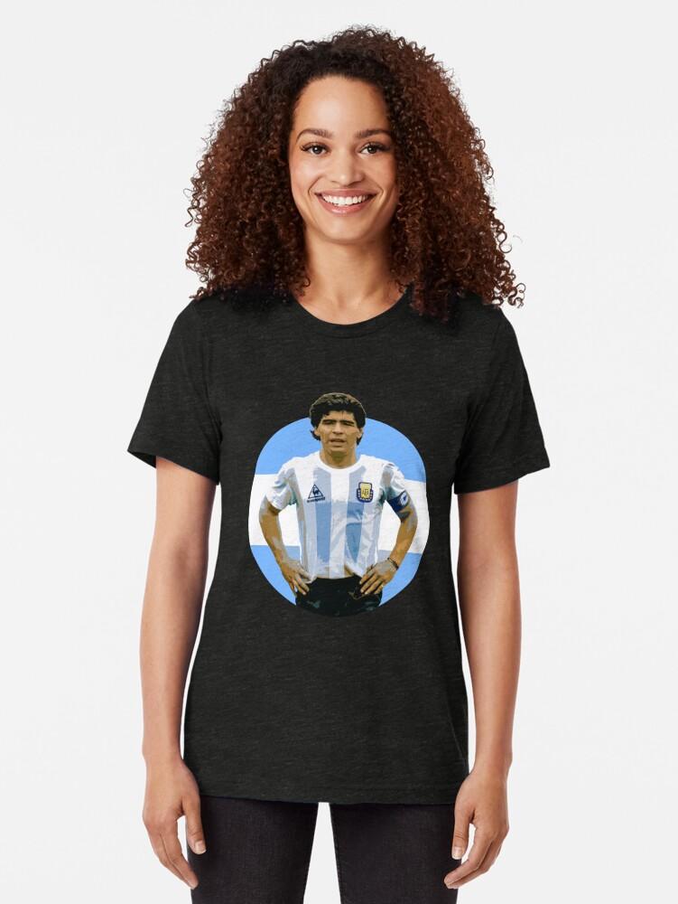 Alternate view of Maradona - The Argentinian Legend Tri-blend T-Shirt