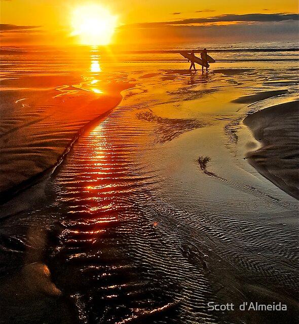 SUNRISE SURFERS by Scott  d'Almeida