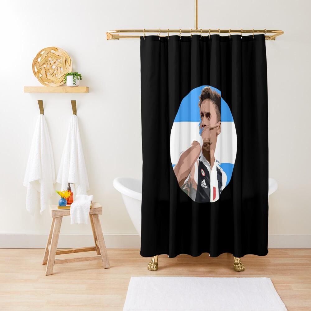Paulo Dybala - Argentinian Football Player Shower Curtain