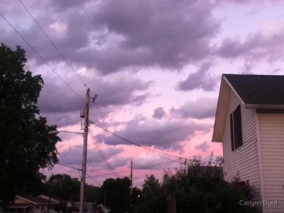 After Storm Sunset- Purple and Pink by Catlynn Byrd