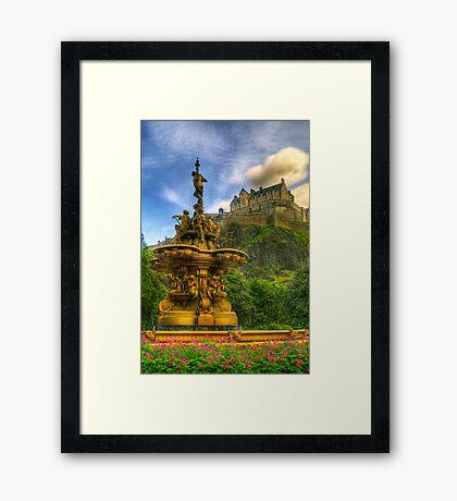 Edinburgh Castle & The Ross Monument Framed Print