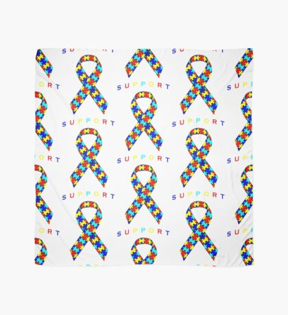 Autism Awareness Ribbon Scarf