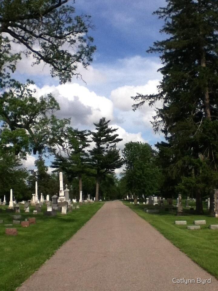 Clouds in Cemetery by Catlynn Byrd