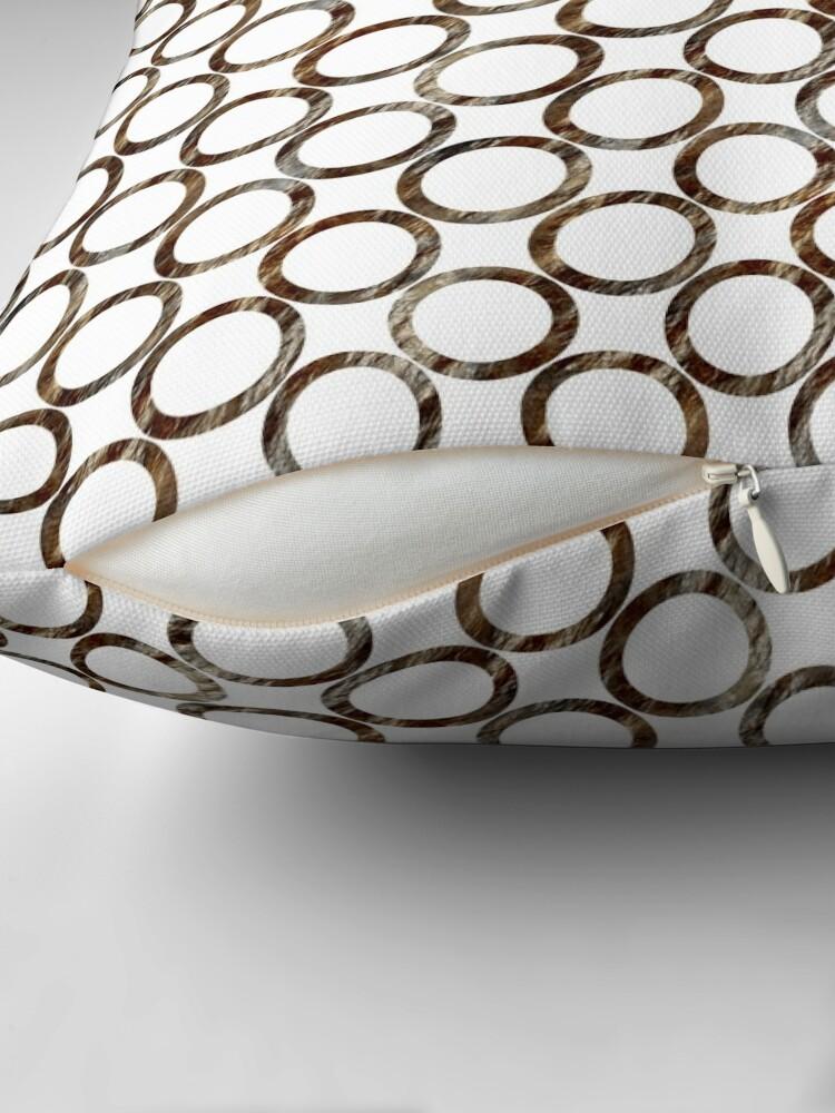 Alternate view of Circles of stone Throw Pillow