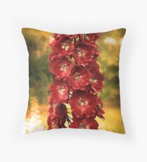 Summer Delphinium Throw Pillow