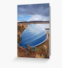 """""""Boat in the Storm"""" Inverpolly, Highlands Greeting Card"""