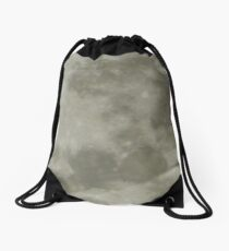 Supermoon close up . view large Drawstring Bag