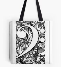 BASS CLEF DOODLE Tote Bag