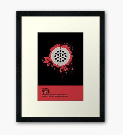 Psycho Poster Framed Print