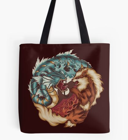 The Tiger and the Dragon Tote Bag