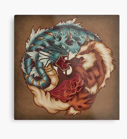 The Tiger and the Dragon Metal Print