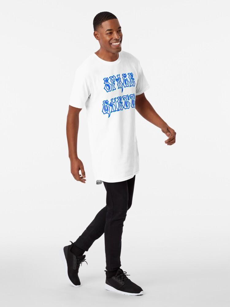 Alternate view of SG Ghost Txt Blue Long T-Shirt