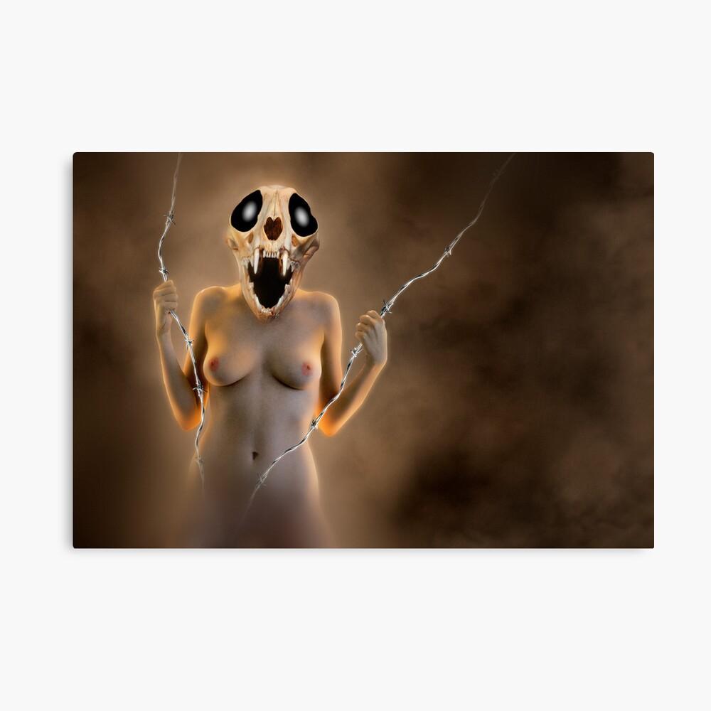 Skull Woman - Creature Leinwanddruck