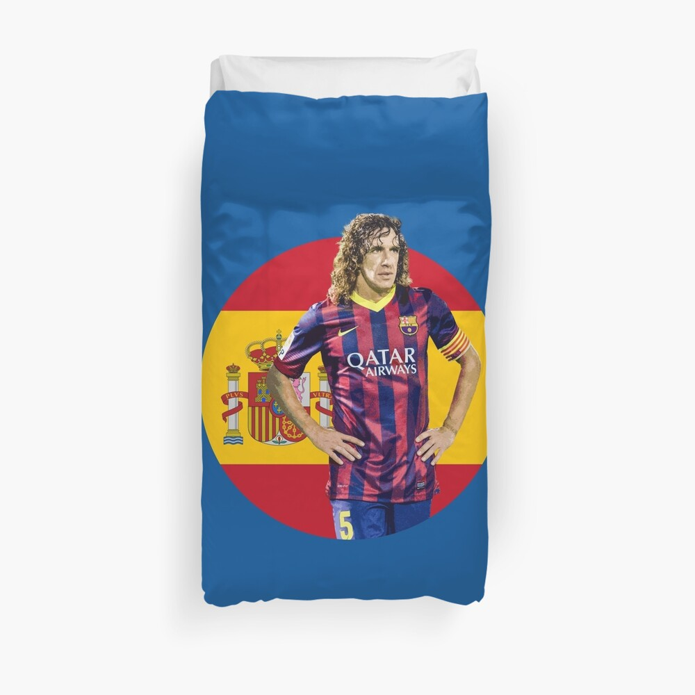 Carles Puyol - Spain and Barcelona Legend Duvet Cover