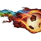 flaming soccerball by luluandizzie12