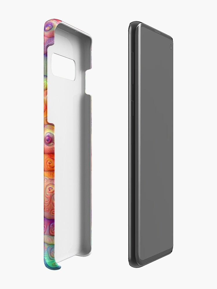 Alternate view of DeepDream Tomato Steelblue 5x5K v8 Case & Skin for Samsung Galaxy