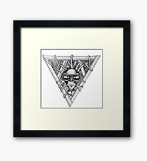 sci fi triangle  Framed Print