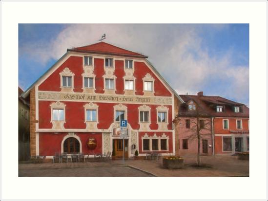 Hotel Angerer - Vilseck, Germany by Shirley Radabaugh