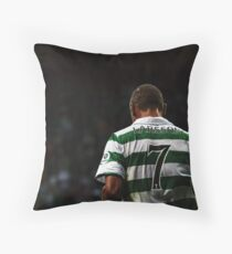 Henrik Larsson 7 - Celtic Legend Throw Pillow