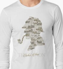 Sherlock Holmes The Canon (white) Long Sleeve T-Shirt